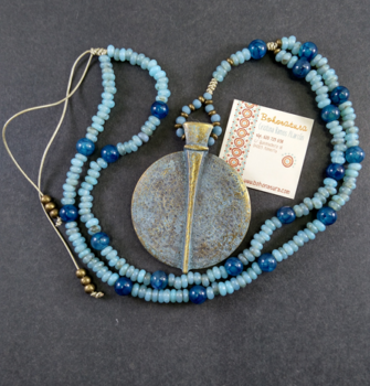Collar largo bronce cristal transllucido boho (Copy)