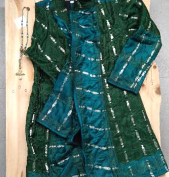 Abrigo verde turquesa y plata (Copy)