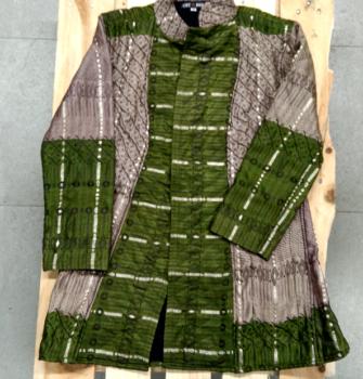 Delantera abrigo corto Indio verde (Copy)