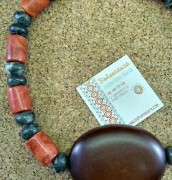 coral y gran semilla boho Exclusivo artesanía (Copy)