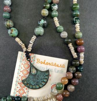 detalle turquesas y agatas boho handmade unico boho style (Copy)