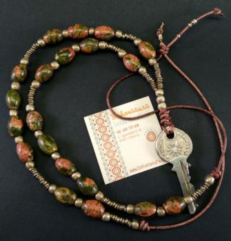 Collar boho con llave vintage (Copy)