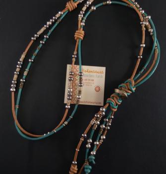 cuero turquesa acero y plata argelina (Copy)